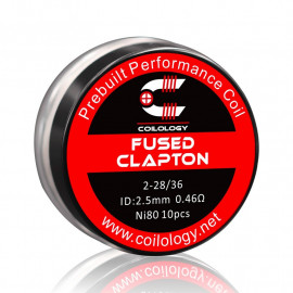 Performance Coil Fused Clapton boite de 10 Ni80 2-28/36 0,46 ohm